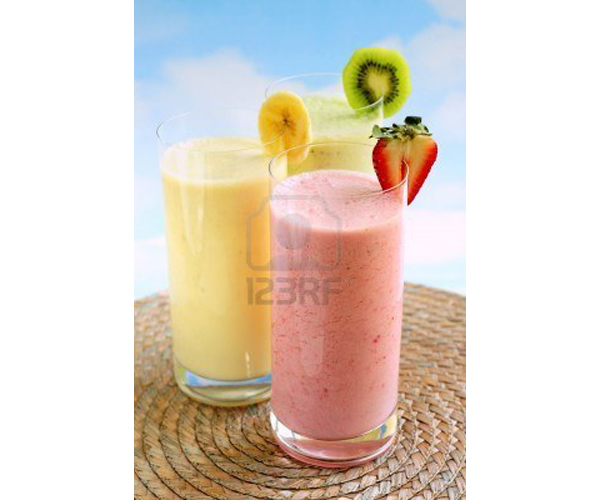 Assorted fruit and berry smoothies